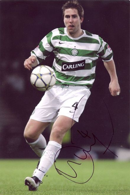 Adam Virgo, Glasgow Celtic, signed 12x8 inch photo.